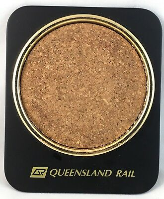 Set Of 3 Qld Railway Heavy Metal & Cork Queensland Rail Beer Drink Coasters