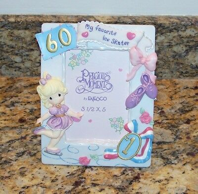 Enesco Precious Moments My Favorite Ice Skater 6.0 Picture Frame Figure Skating