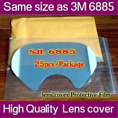 SJL 6885 protective film Same 3M 6885 LENS COVER for 6800 Respirator  25pack