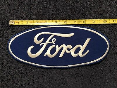 Large Ford oval patch 10 1/2 x 4 1/2