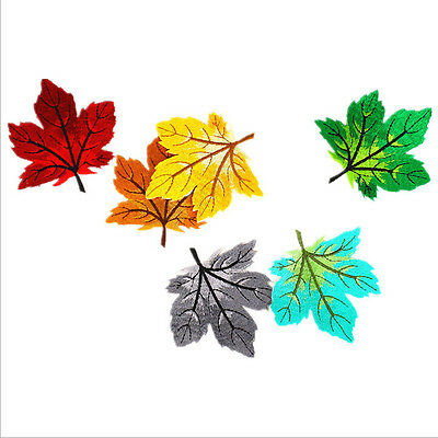 1Pc Embroidered Maple Leaf Applique Badge Sew Iron On Patch Clothes Sewing Craft