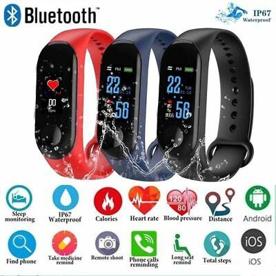 Smart Watch Band Bracelet Wristband Fitness Tracker Blood Pressure HeartRate M3s