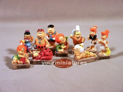 Hanna-Barbera Flintstones French Feves Porcelain 10 Figurines