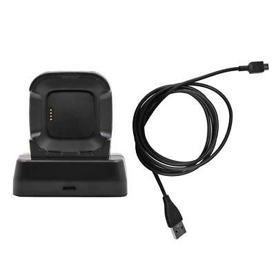 For Fitbit Versa Smart Watch USB Charging Cable Cradle Charger Dock Station