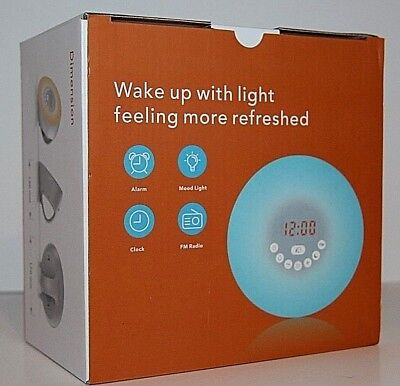 Wake Up Light Alarm Clock - Sunrise Simulation Alarm Clock With 5 Natural Sounds