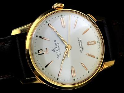 Breitling Vintage 18k Gold Plated Men's watch from 1960's
