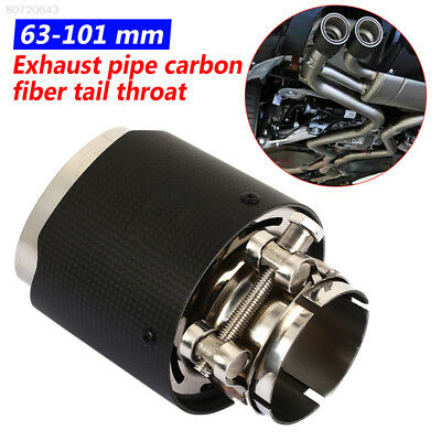 D2A5 63-101mm Car Tail Pipe Muffler Tip Pipe Exhaust Muffler Vehicle SUV