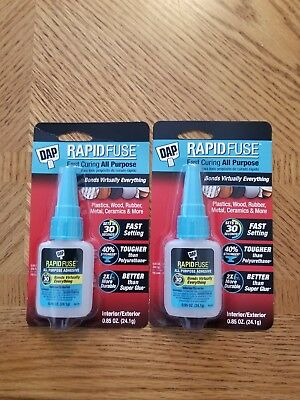 DAP 00155 0.85 oz Rapid Fuse Fast Curing All Purpose Adhesive 2 packages