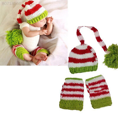 872E 2pcs/Set Hat Beanie Newborn Baby Accessories Photo Props Christmas Gifts