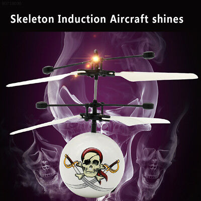 0C68 ABS Skull Airplane Flashing USB Charge Colorful Light Helicopter Sensoring