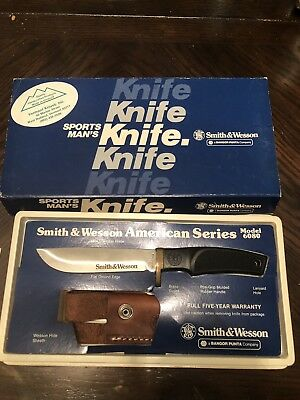 Mint Vintage Smith & Wesson American Series Knife Made In USA! NOS Model 6080