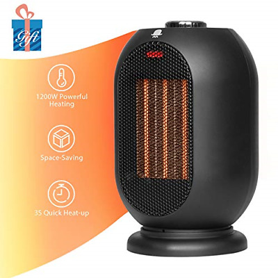 MRMIKKI Small Space Heater for Office, 1200W/700W Electric Heater for Home, with