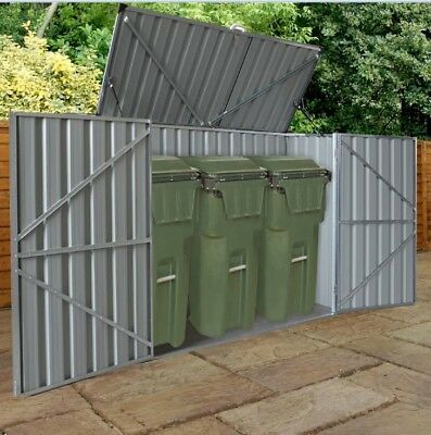 Bin Shed with Floor Support Frame 2x0.9x1.3m Garden Shed, Tool shed Storage Shed