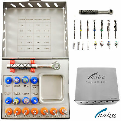 Dental Surgical Drills Kit / Drivers / Implants Surgical Instruments 16Pcs NATRA