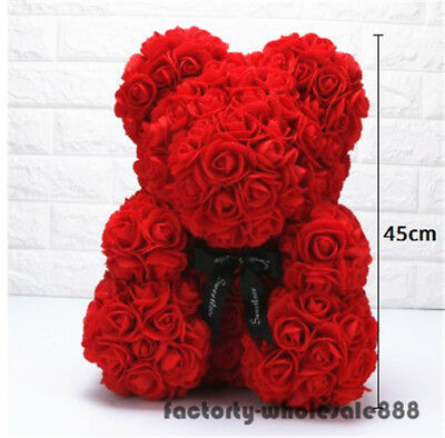 45cm Giant Huge Big Teddy Bear Red Rose Flower Bear Toy Valentine Birthday Gifts