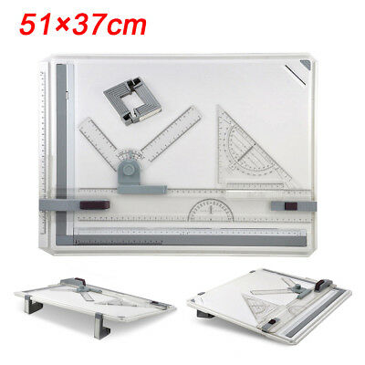 High/Pro Quality Office A3 Drawing Board Table Sets With Magnetic Clamping Bar
