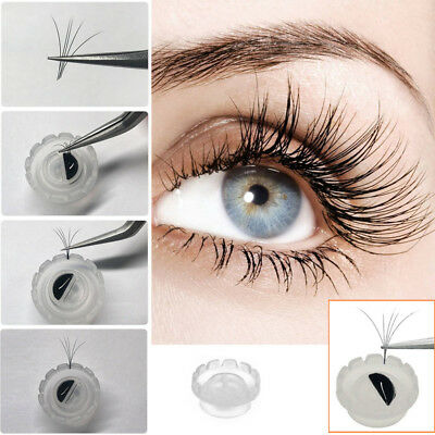50pcs Eyelash Glue Holder Grafting Eyelashes Extension Blossom Adhesive Cup Ring
