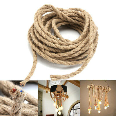 5/10M 2 cords Vintage Rope Wire Twisted Electrical Cable Braided Pendant Lamp