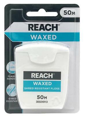 2 Pack REACH Listerine Waxed Dental Floss 50m