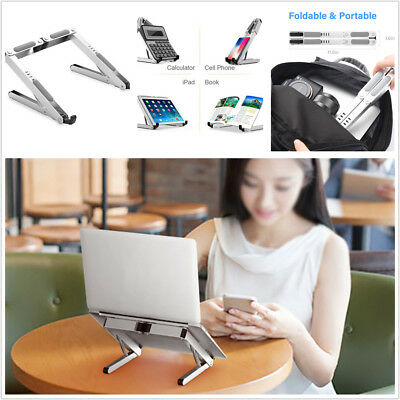 "1pc Portable Laptop Stand Adjustable Ventilated Aluminum Tablet Holder 11""-15.6"""