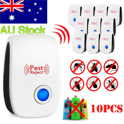 10* Pest Control Electronic Repeller Rat Mosquito Insect Mice Repellent