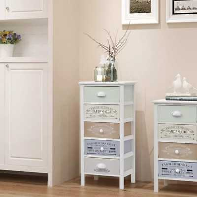 French Style Wooden Five Drawers Storage Cabinet Home Durable Side Hall Cabient