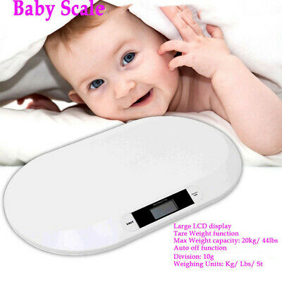 0.01-20kg Mini Digital Electronic LCD Baby Pet Body Weight Weighing Scales White