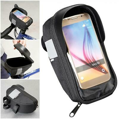 Bicycle Handlebar Bag 4.7-6.2inch Touchscreen Phone Mount Holder Road Bike Bag