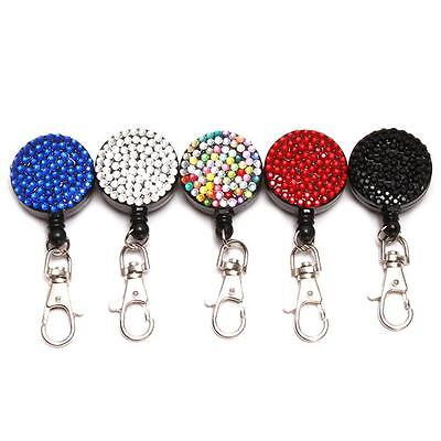 Retractable Badge Holder Reel Swipe Card Security ID Pull Key Tag Clip SW