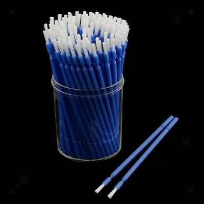 100X Dental Disposable Micro Applicators Long Tipped Bendable Micro Brushes Blue