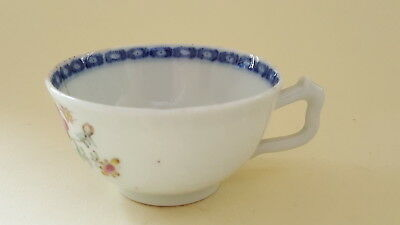 Chinese Cantonese Famille Rose vintage pre Victorian oriental antique teacup
