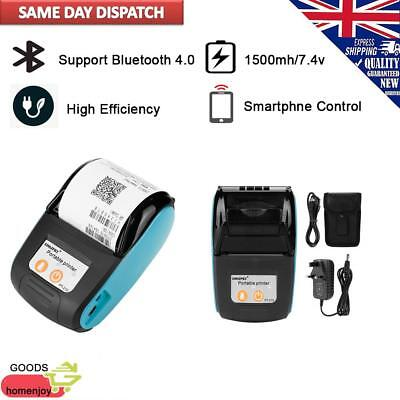Wireless Portable Thermal Receipt Bill Printer 110-240V & 58Mm Bluetooth 4.0 UK