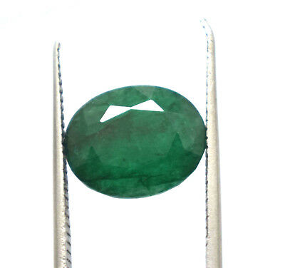 5.10  Ct Oval Cut Natural Green Emerald  Panna  Ggl Certified Hurry Now