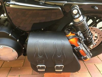 Harley Davidson Sporty Flame Black + Halterung Forty Eight XL Roadster Lowrider