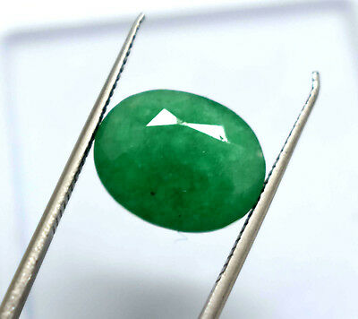 7.70  Ct Oval Cut Natural Green Emerald  Panna  Ggl Certified Hurry Now