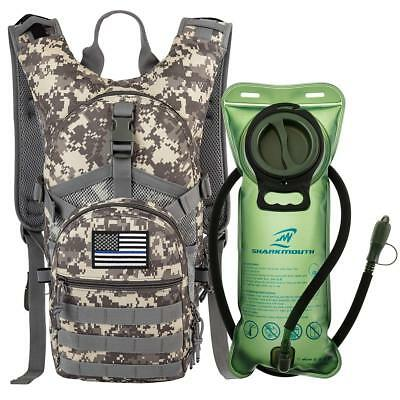 Military Tactical Hydration Backpack with 2L Water Bladder Bag Hiking Pack New