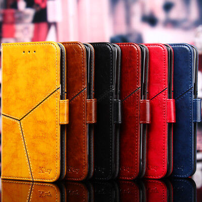 Retro Wax PU Leather Wallet Flip Stand Case Cover For Alcatel 3 5 3V 3X 1C 1X 3C
