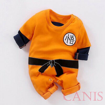 UK Cute Toddler Baby Boy Girl Dragon Ball Goku One Piece Jumpsuit Romper Clothes