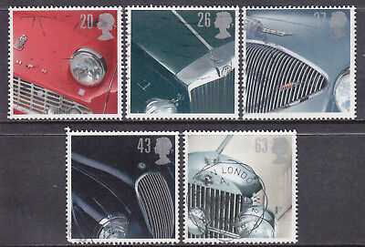 1996 GB Classic Sports Cars SG1945-1949 Set Of 5 Used Commemorative Stamps