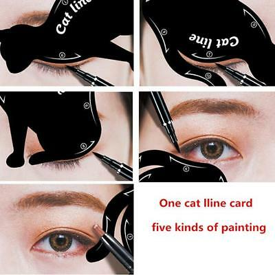 Eyeliner Stencil Set Makeup Guide Quick Smokey Cat Eye Liner Tools SW