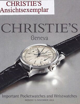 IMPORTANT POCKETWATCHES & WRISTWATCHES: Christie's Wälzer Genf 04 +results