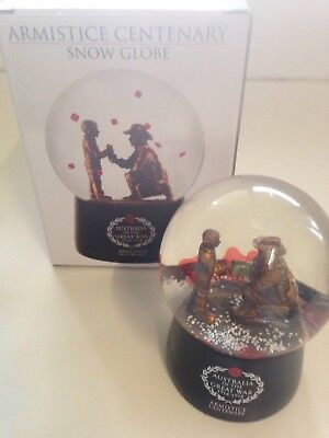 New Armistice Centenary Snow Globe Australia In The Great War