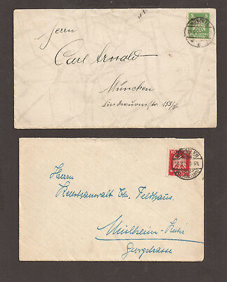 Stamp Cover Munchen THIRD REICH 1926 GERMANY lot X2 PC  $$$ S9