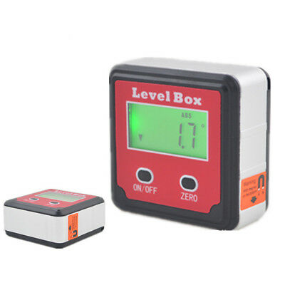 Finder Inclinometer Precision Angle Bevel Digital Level Box Base Magnetic