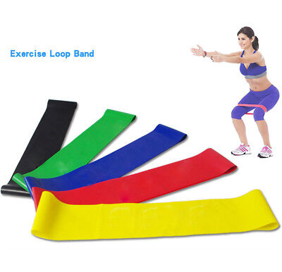 2PC Resistance Band Loop Yoga Pilates Home GYM Fitness Exercise Workout Training