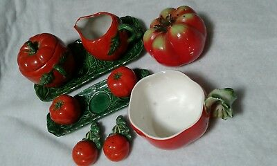 China/Ceramic Tomato Grouping - Made in Occupied Japan and Others - 10 Pieces