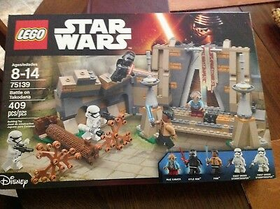 New Sealed Retired Lego Star Wars 75139 Battle on Takodana Kylo Ren Finn Maz