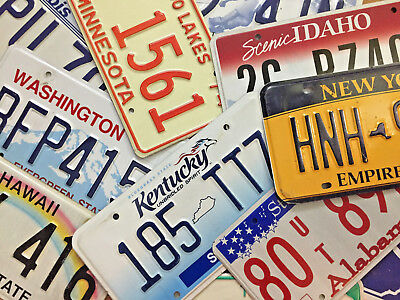License Plates. All States Available - Good Condition