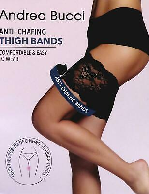 Andrea Bucci Anti-Chafing Lace Thigh Bands - Black or Natural Lace Thigh Bands