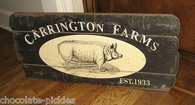 LARGE PIG Hog Wall SIGN*Primitive/French Country Farmhouse Farmers Market Decor